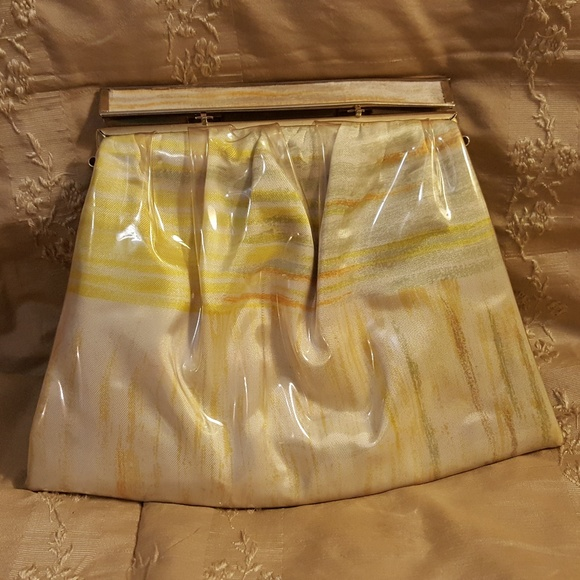 Ande` Handbags - Vintage Ande` Small Ruched Fabric Clutch